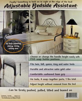 Photo on bed handle AJ1 packaging