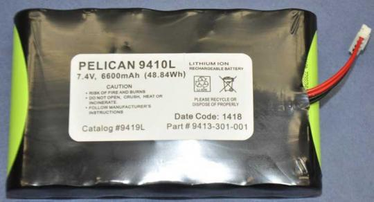 Pelican Replacement Battery Pack