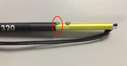 Lock Buttons at the end of the probe, correctly engaged