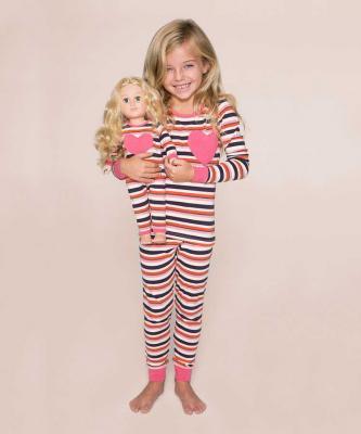Dark pink, gray and white pajamas
