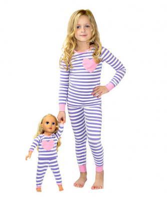 Light purple and white pajamas