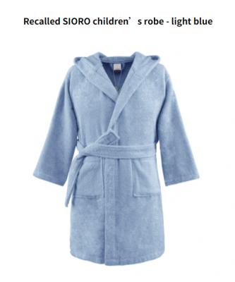 Recalled SIORO children's robe – light blue