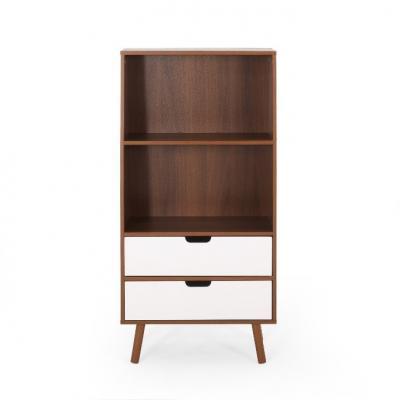 Recalled HM #66760.00WALNWHT 2-drawer storage unit