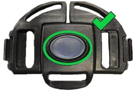 Replacement Gray Button Buckle