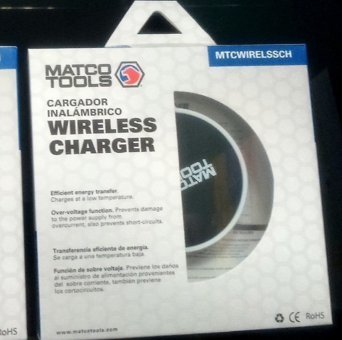 Recalled wireless charger in packaging