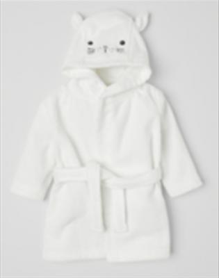 Recalled white cat children's hooded bathrobe.