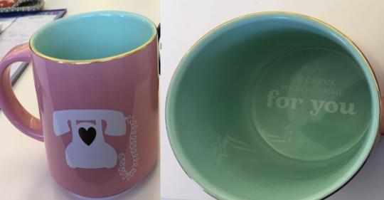 Recalled DAVIDsTEA For You Valentine's Day stackable mug
