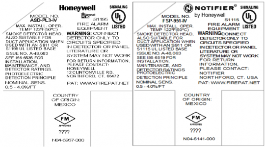 Example product label indicating data code location