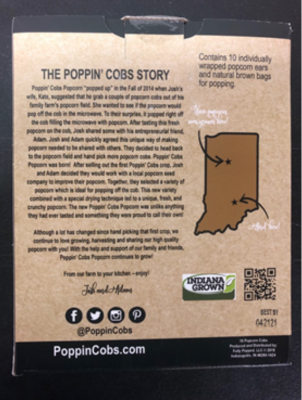 Recalled Poppin' Cobs back of box date code in bottom right corner