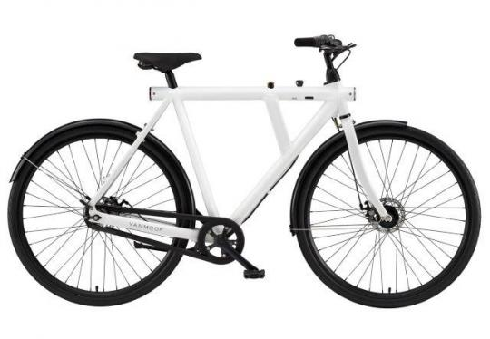 VanMoof B-series city bicycles: 3 speed diamond frame with integrated lock
