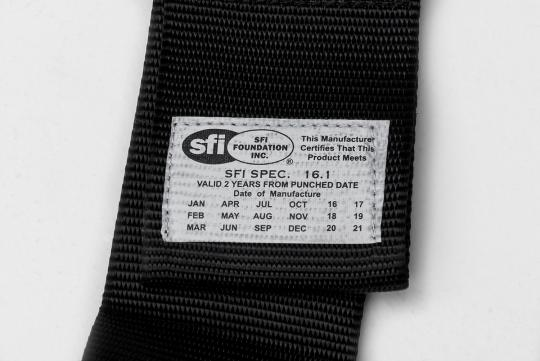 Close up of label showing manufacture date.