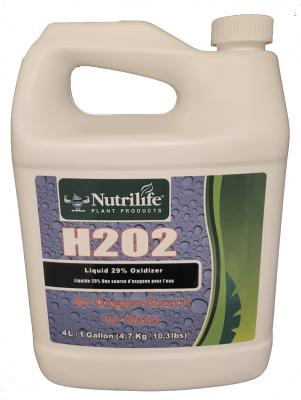 Nutrilife Plant Products one gallon/four liter bottle of hydrogen peroxide (H202) liquid 29% oxidizer
