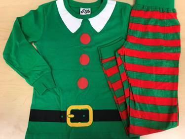 Recalled pajama set – Elf print