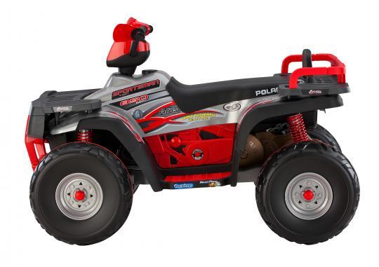 Recalled Peg Perego 850 Polaris Sportsman ride-on vehicle (side view)