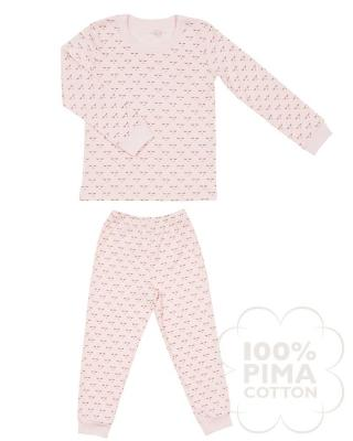 Children's two-piece pajama set in mini sleeping cutie print