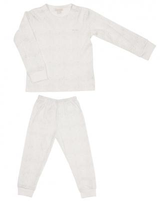 Children's two-piece pajama set in reptile print