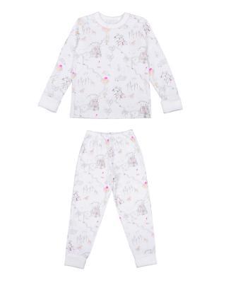 Children's two-piece pajama set in princess land pink print
