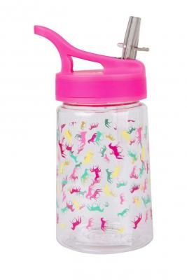 Pink lid with horse print