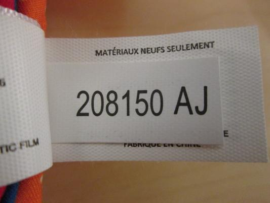 Label with the lot code