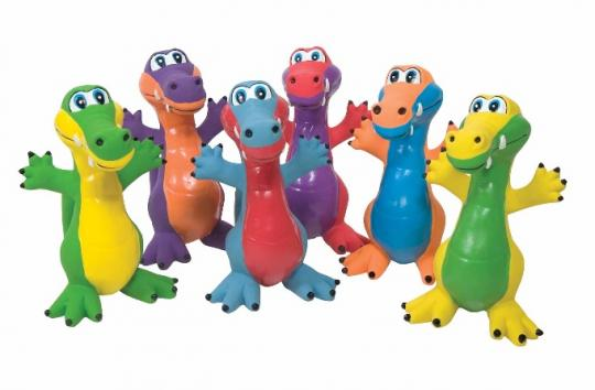 Recalled rubber critter alligator toys set of six