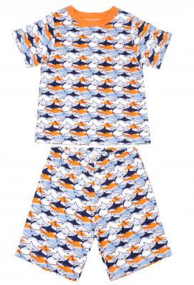 Klever Kids Short-Sleeved Allover Shark Pajama Set