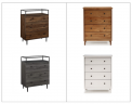 Recalled Chest of Drawers and Spencer 4-Drawer Chests