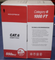 Recalled Monoprice Category 6 Ethernet Bulk CMR Communications Cables box