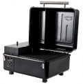 The recalled Traeger Ranger portable grill with the lid open.