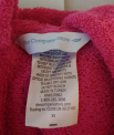 The Company Store, RN#120962 and a tracking number beginning with either CS3981DR, CS0981DR or 28738 are printed on a sewn-in neck label.