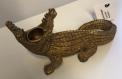 Recalled Golden-colored crocodile candleholder