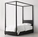 Recalled RH Callum canopy bed – washed black