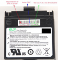 Label on recalled GLW battery pack