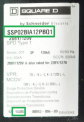 Example of a label on recalled Schneider Electric Surgeloc Surge Protection Device with the Location of the catalog number and date code