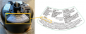 Rating label located on the top of the fan housing assembly with UPC highlighted.