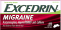 Recalled Excedrin Migraine Caplets (50, 80, 100, 125, 200, 250 and 300-count)