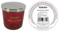 Recalled Kohl's Merry Christmas Candle