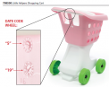Recaled Step2 Little Helper's shopping cart, model 708500, with date code location