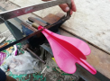 Consumers should destroy and dispose of the recalled lawn darts.