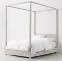 Recalled RH Cullum canopy bed – sandwashed grey