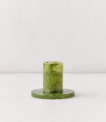 Recalled Swirled Taper Candle Holder – Green