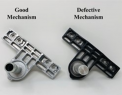 Attachment mechanisms that connect the chair to its base
