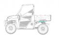 Ranger, PRO XD and Bobcat models – VIN number location shown at #1