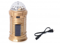 Recalled golden Shop LC Rechargeable Party Disco LED Light (36x7 in) with Solar Panel and 2 Pin Plug Power Cord. The light also comes in blue, gray, and black.