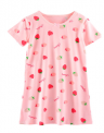 Recalled Booph children's nightgown – short sleeves, pink with strawberries