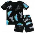 Recalled Tkala Fashion children's pajamas – short sleeves, multi-color dinosaur print