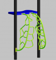 Merge Metal Climbers with arrows pointing to the hand grip entrapment areas.