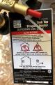 Hang Tag on recalled 15,000 BTU Tank Top Propane Heater showing Item #63073