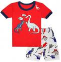 Recalled Tkala Fashion children's pajamas – short sleeves, orange and white dinosaur print
