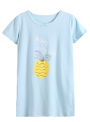 Recalled Booph children's nightgown – short sleeves, blue with pineapple