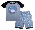 Recalled Tkala Fashion children's pajamas – short sleeves, grey shark print